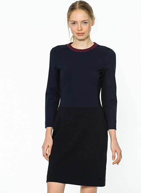 Tommy Hilfiger Uzun Kollu Elbise Lacivert